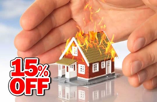 15% desc. en Seguros contra Incendios